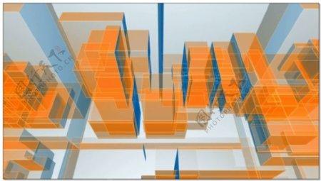 建筑结构模型视频素材
