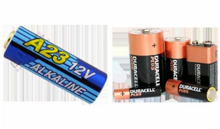 多种型号电池免抠png透明图层素材