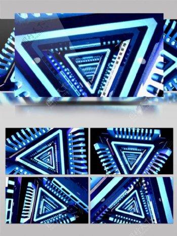 超炫VJ动感三角形隧道背景素材