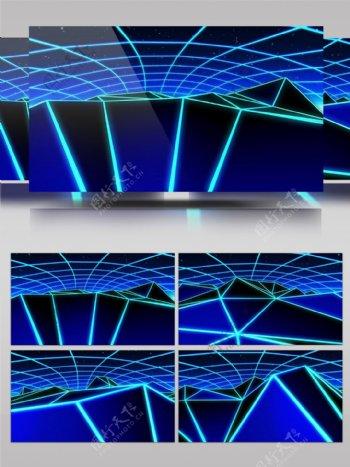 3D网格蓝色科技酷炫效果VJ素材视频素材