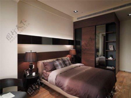 奢华内涵卧室白色背景墙室内装修效果图