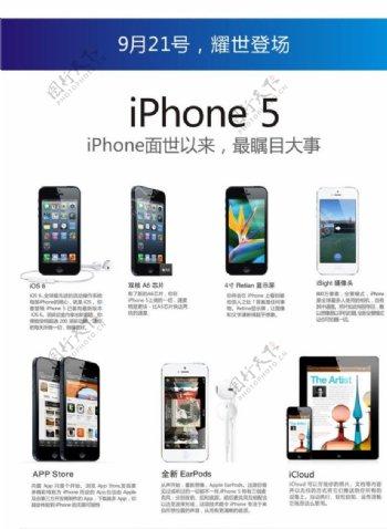 iPhone5新功能介绍页面设计