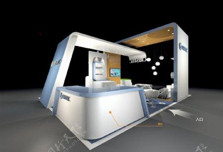 3D设计展台效果图