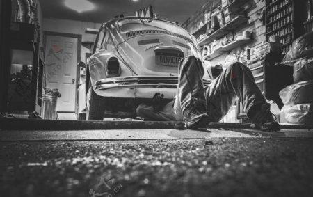另类修车老式甲壳虫