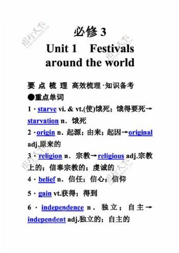 高考专区英语高考英语必修3unit1festivalsaroundtheworld