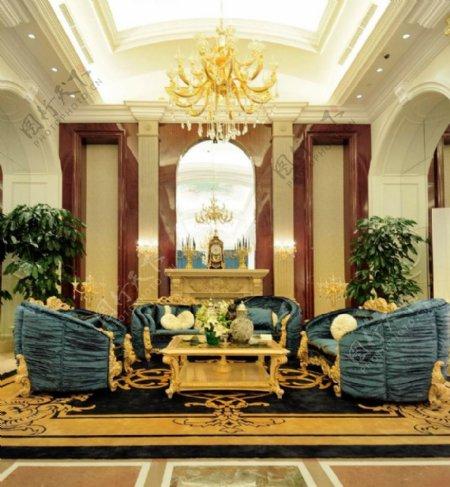 欧式客厅拱形门装修效果图