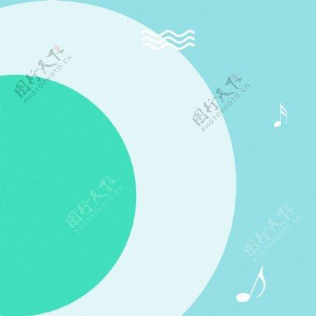 几何创意光碟音乐背景