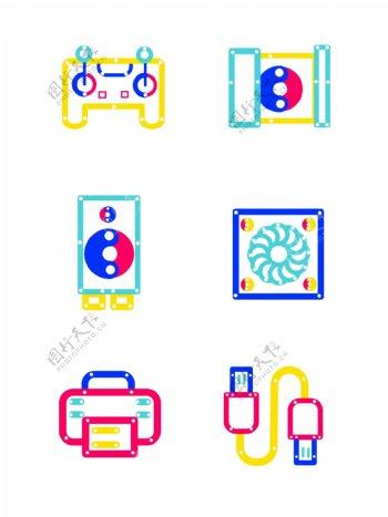 手机图标iocn矢量ui网页三原色元素