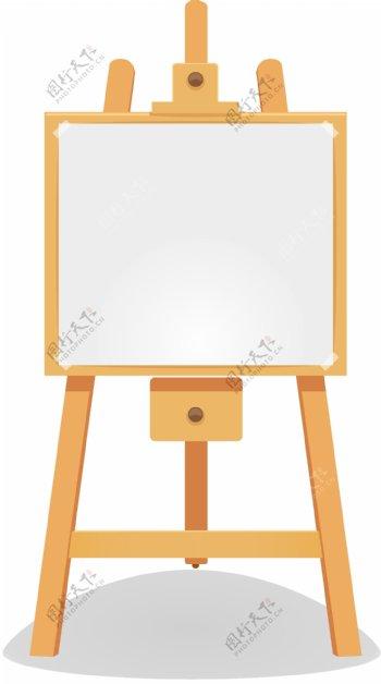 儿童画画写字可升降画板矢量图