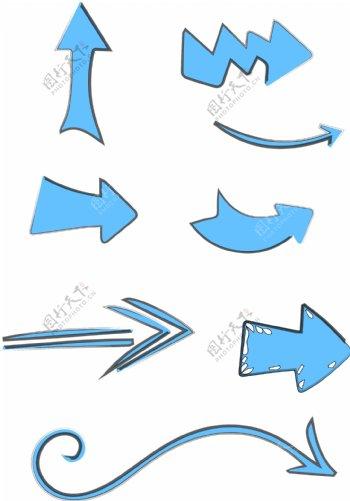 蓝色箭头合集可商用