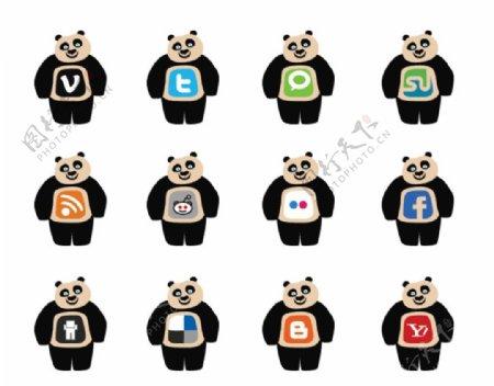 可爱小熊标志图标ICO格式