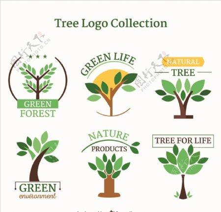 绿色植物标签