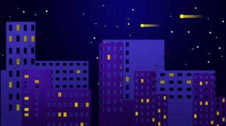 蓝色科技智慧城市背景