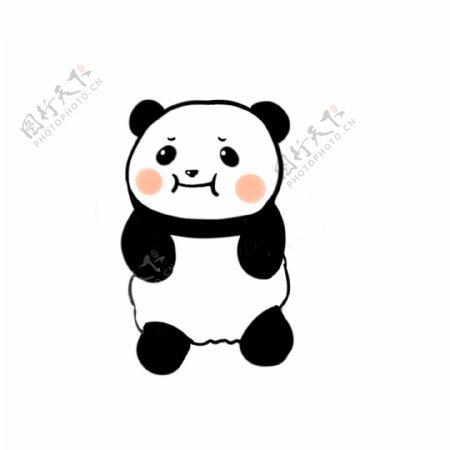 原创可爱熊猫生气表情包