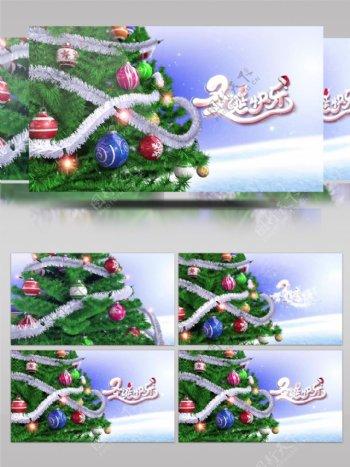 圣诞树礼物圣诞节节日祝福视频