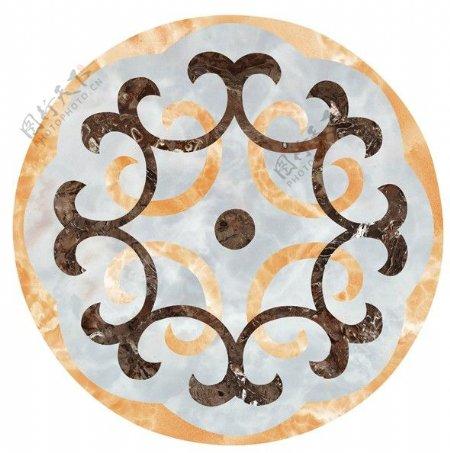 中式纹理拼花瓷砖贴图
