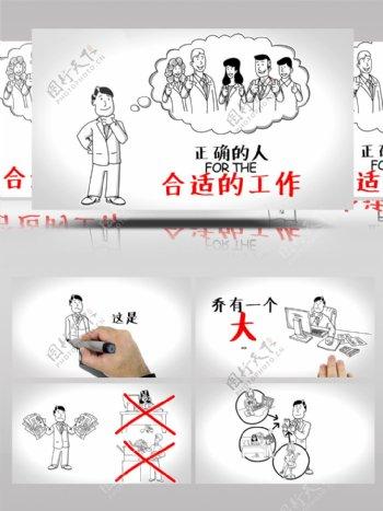 白板手绘动画企业介绍幻灯片