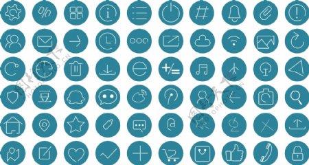 单色图标网页界面ico