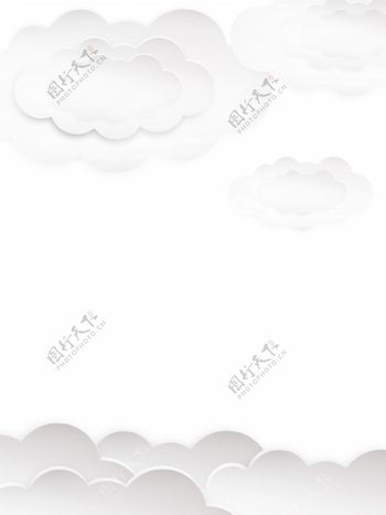纯白色简约折纸立体背景