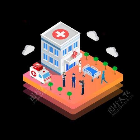 2.5d医院环境设计元素可商用