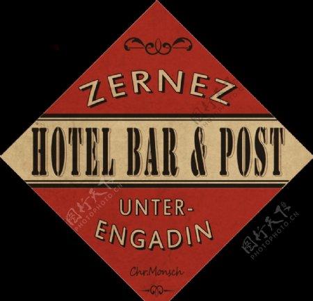 老式酒吧酒店广告