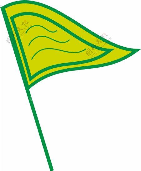 旗子节日庆祝绿色