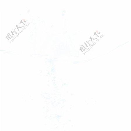 白色水纹水浪元素