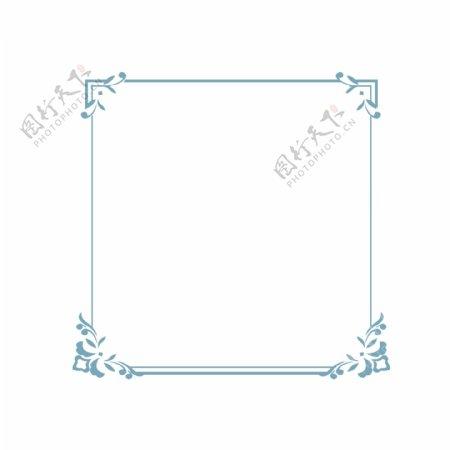 蓝色复古纹理边框