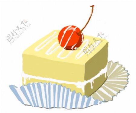 蛋糕手绘原创素材