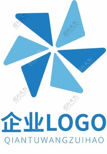 高端企业蓝色LOGO