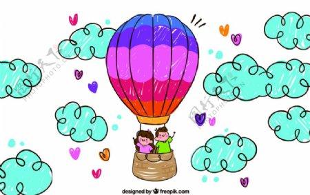 气球矢量气球卡通气球彩色