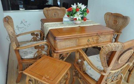 木质麻将桌