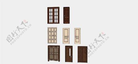 户内不同型号的木门
