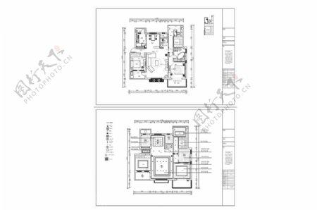 多层住宅欧式风格CAD施工图纸