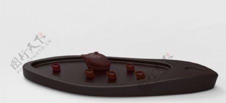 个性化整套茶具茶盘原创设计3D模型stp