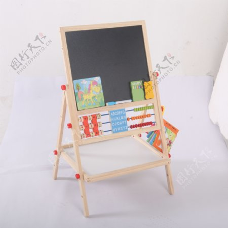 支架式儿童画画板磁性小黑板9