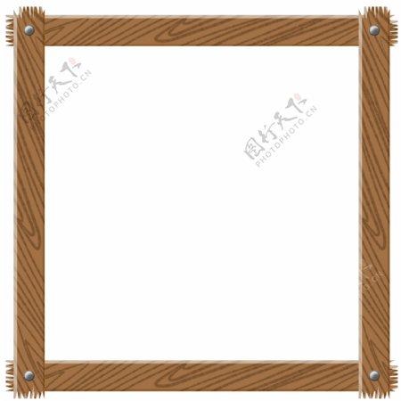 木质纹理边框插画