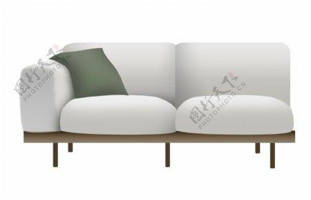 白色的欧式家具插画