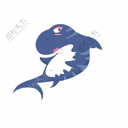 海洋动物蓝色鲨鱼