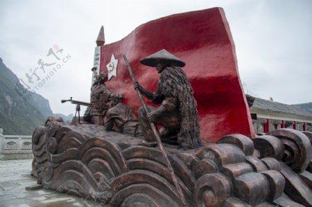 红色文化雕塑红军塑像