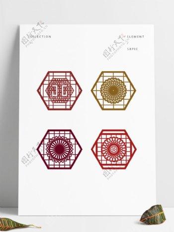 中国风剪纸花纹边框纹理