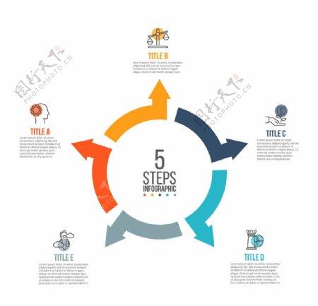 扁平化商业信息图表矢量设计素材