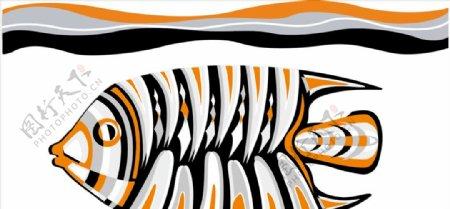 野生动物系列热带鱼矢量图