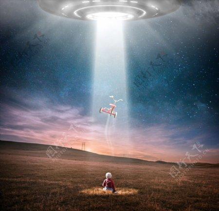 UFO与小孩的故事