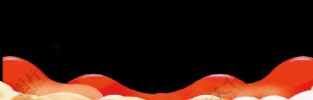 红色纹理边框
