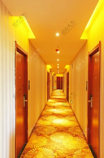 宾馆客房酒店标准间灯光