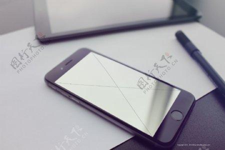 iPhone6s黑色机型样机模