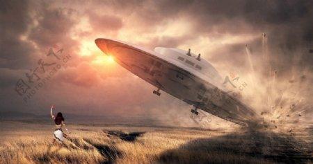 晚霞UFO