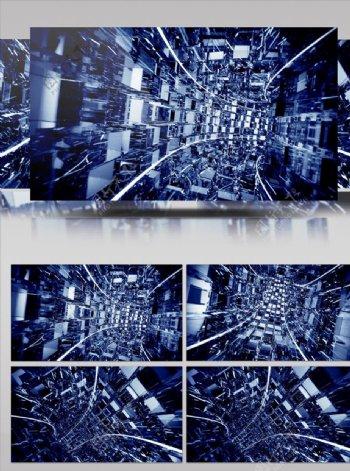 动感立体隧道传输大屏幕背景视频