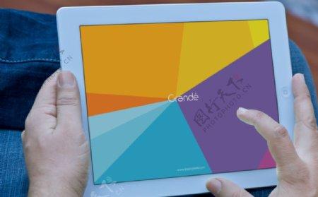 iPad样机场景ps贴图素材